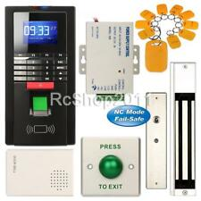 Fingerprint Entry RFID Access Control Office System Kit + 280KG Magnetic Lock US