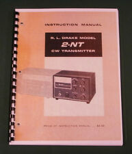 "Drake 2-NT Instruction Manual: w/11""X17"" Schematic & Protective Covers!"