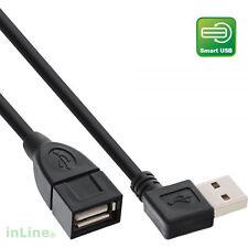 InLine® USB 2.0 Verlängerung abgewinkelt Stecker Buchse Typ A 0,2m smart schwarz
