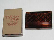 Vintage Avon Tortoise Tone Stamp Holder 1970s/ 1980s NIB