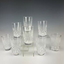 Set 8 Signed WATERFORD Deep Cut Irish Crystal LISMORE 12 oz Tumblers Glasses LGI