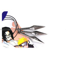 Anime Naruto Shippuden 3 Kunai/darts shape alloy metal pendant/necklace black!