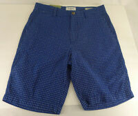 """Goodfellow Linden Chino Shorts 9"""" Inseam 28 Blue Patterned Men's Stretch"""