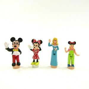 Polly Pocket Disney Magic Kingdom Figures Mickey Minnie Princess Aurora Girl