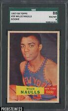 1957-58 Topps #29 Willie Naulls New York Knicks SGC 88 NM-MT 8 CENTERED