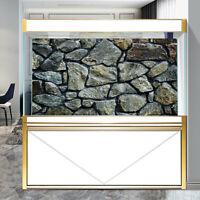 HD Rock Stone Aquarium Fish Tank Background Poster PVC Landscape Decorations
