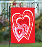 Toland Heart By Heart 12.5 x 18 Valentine Love Garden Flag