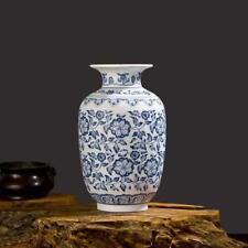 Porcelain Ceramics Decorative Vases Blue And White Floral Prints Tabletop Decors
