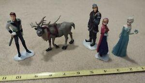 Disney Store Frozen Figurine Playset 5 Figures Cake Toppers Anna Elsa Sven Hans