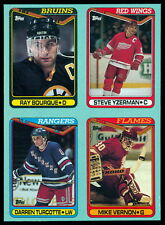 1990 TOPPS RAY BOURQUE STEVE YZERMAN MIKE VERNON BOX BOTTOM 4 CARD UNCUT PANEL