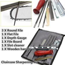 8Pcs/Set Chainsaw File Guide Kit Flat 4/4.8/5.5mm Depth Gauge File Sharpening