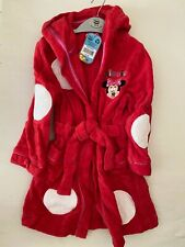 Disney Store Minnie Mouse Dressing Gown Age 3-4 BNWT