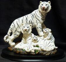 """WHITE TIGER FAMILY     Figure Statue   H7"""""""
