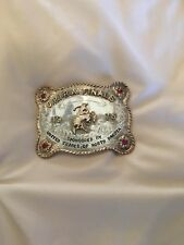 1975 Sterling Silver Champion Trophy Rodeo Belt Buckle