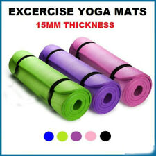New listing 15MM Yoga Mat Thick Non-slip Pilates Workout Fitness Exercise Pad Gym Workout