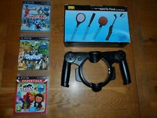 PS Move sports pack games & Steering Wheel - PlayStation 3 - GOOD CONDITION