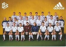 DFB  Nationalteam WM 2002   Mannschaftskarte ohne Unterschriften  300885