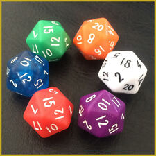 2x Hot D20 Gaming Dice Twenty Sided Die RPG D&D