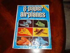 VINTAGE CARLISLE 6 Paper Airplane Kit, MOON PROBE STARSHIP INVADER ENVOY