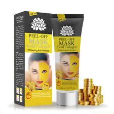 Yellow Gold Collagen Facial Face Mask Peel Off Anti-wrinkle Mask Deep Cleaning