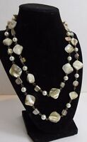 Faux Pearls Mother of Pearl Chips Necklace