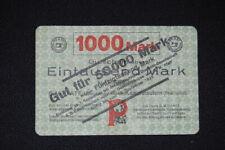 Weimar 1922/23: Privatnotgeld 50 000 Kaiserslautern Pfaff aus 1000 überstempelt