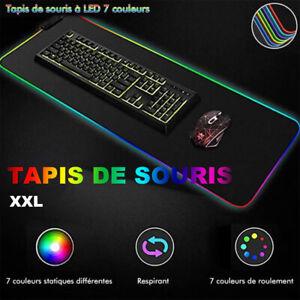 Grand Tapis de Souris Clavier Gaming Jeu XXL 800*300 LED RGB Lumineux USB