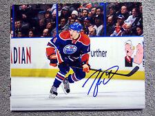 TAYLOR HALL Edmonton Oilers SIGNED Autographed 8X10 Photo w/ COA e