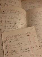Vntg Ledger Paper, Wolfeboro New Hampshire 1886 Beautiful Calligraphy Ephemera