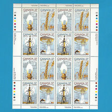 Canada Stamps 1988 37 Cent Scott* 1206 To 1209  Canada Day Sheet Of 16