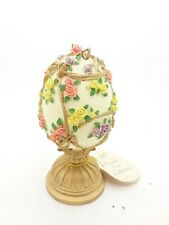Vtg Collectible Lefton Musical Egg from Royal Egg Collection 1995 With Tag.