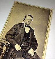 Antique Civil War Era Fashion Gentleman, Old Fort Edward, New York! CDV Photo!