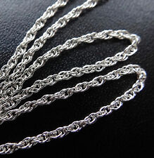 "Plata esterlina 925 16"" 1.5 mm Soga Cadena Collar Para Colgante-D23"