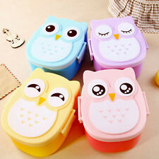 Cute Cartoon Owl Silicon Lunch Box Bento Lunch Box Set School Lunch Box Kids HOT