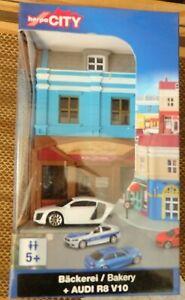 Herpa City 800013 Baking + Audi R8 V10 White 1:64
