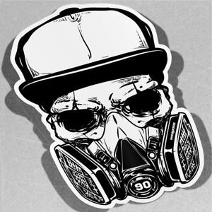 Skull Wearing Spray Mask Weapons Vinyl Sticker Decal Window Car Van Bike 3105