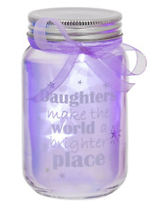 LED light up Jar Daughter You make the world a better place gift Present