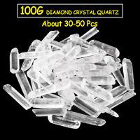 100g ( About 30-50 ) Top Quality Herkimer Diamond Crystal Quartz Point Specimen
