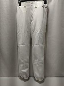 Mizuno Youth Baseball Pant Size XL Select White Jogger Cuff Elastic Bottom 1205