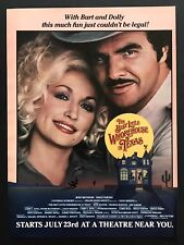 1982 Vintage Ad BEST LITTLE WHOREHOUSE IN TEXAS Release Dolly Parton Reynolds