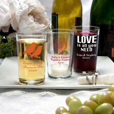 75 Personalized Bistro Glasses Wedding Party Shower Event Keepsake Favors Lot