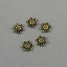 10x Jewelry Making Pendant Vintage Findings Charms Clasp A1935 Flower Connector