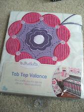 Sumersault Tab Top Valance Baby Girl Nursery Flowers Pink Purple Adorable 15x44