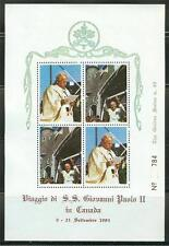 VATICAN CITY  POPE JOHN PAUL II 1984 VISIT TO  CANADA  12  COVERS & ONE S/S
