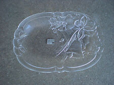 Mikasa Christmas Candy Plate w Christmas Bells Bows and Holly   JAPAN