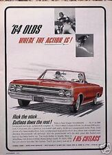 1964 Olds Oldsmobile F-85 Cutlass ORIGINAL Vintage Ad CMY STORE 5+= FREE SHIP