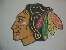 NHL Chicago Blackhawks Logo Sportswear Fan Apparel White Soft T Shirt Size L