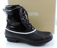 Women's Shoes Michael Kors EASTON BOOTIE Lace Up Duck Rain Boots Black Size 9