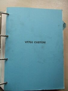 Genuine Honda VF750 Custom Workshop manual from Blue Binder Magna VF750C