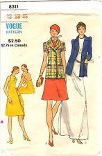 "Vintage 1970s Vogue Sewing Pattern Women's HALTER DRESS ACKET 8311 16 B38"" UNCUT"